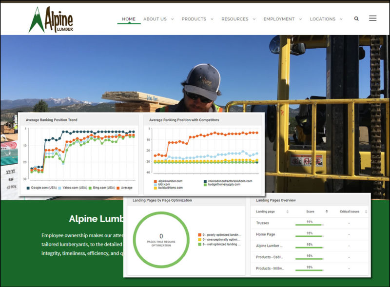 alpine lumber denver seo website